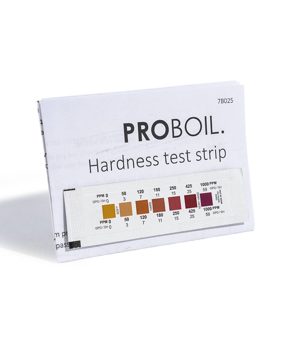 Image of product Pronteau 4 IN 1 - PROBOIL3 Water Hardness Test Strip Kit