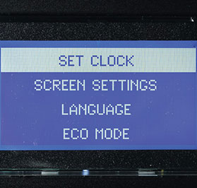 Advanced touch key LCD control panel